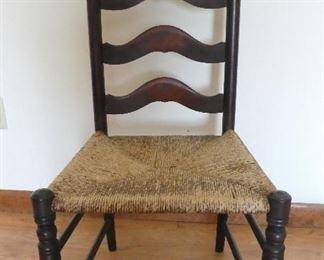 Antique wood & wicker chair