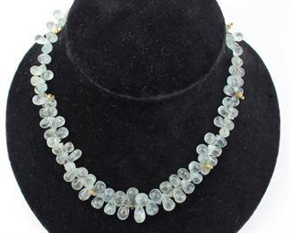 Aquamarine Quartz Necklace