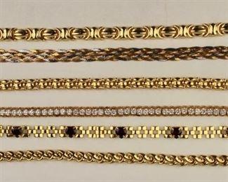 18k and 14k Bracelets