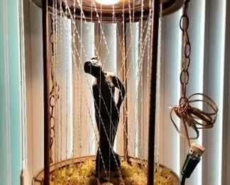 Working Grecian oil rain lamp