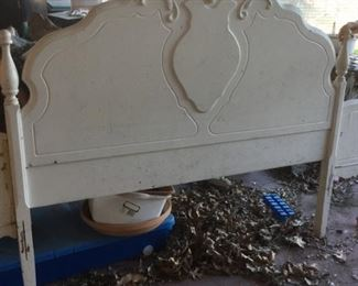 vintage white headboard