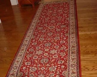 One of many runners and area rugs