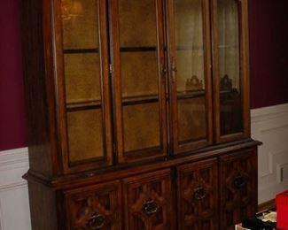 Large light china cabinet