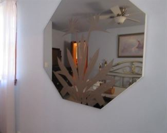 1950's etched mirror