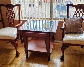 2  Beautiful Chairs that go with the Dining Room Table.