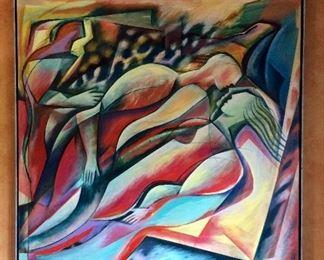 """Fritz Van Eeden, 66"""" x 91""""."""
