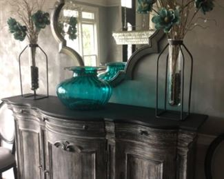Spectacular Distressed Buffet with Mirror