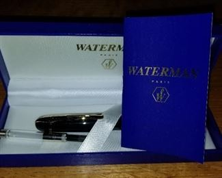 Waterman Fountain Pen Paris with box and paperwork