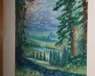 Mt Rainer California by Almo Taylor circa 1944
