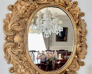 "20. Carved Gilt Mirror (35"" x 38"")"