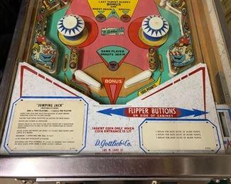 140. D. Gottlieb & Co. Jumping Jack Pin Ball Machine Serial #04408