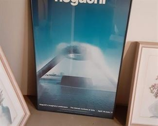 Framed poster of the Detroit noguchi fountain