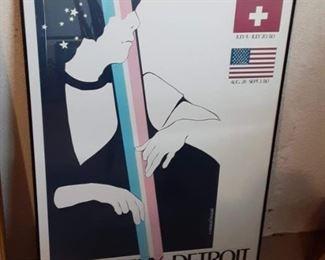 Detroit Montreux jazz festival framed poster