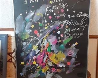 1982 Detroit Jazz, Montreux Festival framed poster