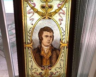 Reverse painted portrait