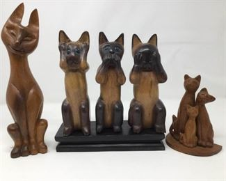 Decorative Wooden Cats https://ctbids.com/#!/description/share/325682
