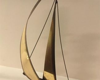 . . . a nice brass sailboat on agate
