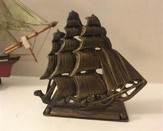 . . . a nice brass sailboat