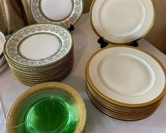 Stacks of dinner plates