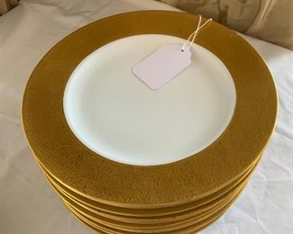 Gold trimmed plates