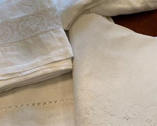 Fine linen sheets