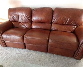 MATCHING LEATHER RECLINING SOFA