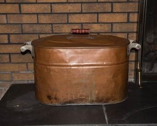 Large Copper Boiler Pot with Lid