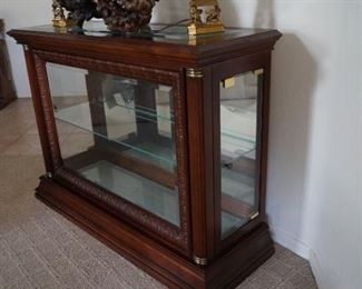 Cherry Finish Display Case