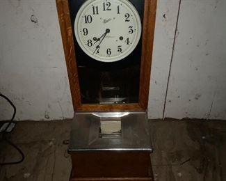 Oak Time Clock