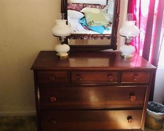 Cherry Dresser. There is a matching bed, chest of drawers and bed side table