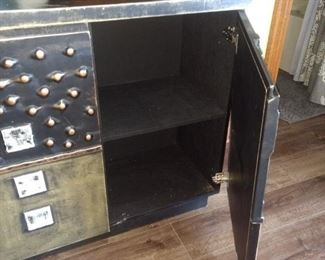Neat metal cabinet!!  This piece is in the basement.