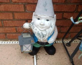 I have a couple of plastic gnomes  and at least 5 big ceramic gnomes!!