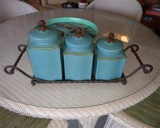 Great canister set with holder.  I THINK it's southern living.