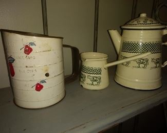 Vintage kitchenware!!  Just a tad. Bit of what she has! You're going to have a BLAST shopping!