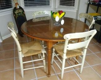 Vintage Ethan Allen table and chair set!!!
