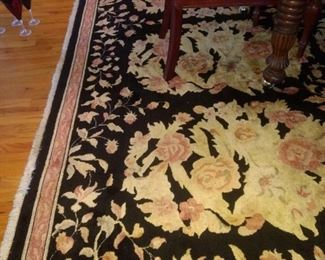 This beautiful rug is in the dining room under the dining table!