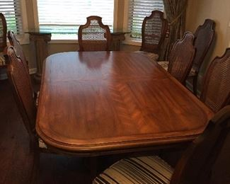 Century Table with Three Leaves and Ten Chairs...