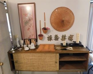Asian decor and cabinet