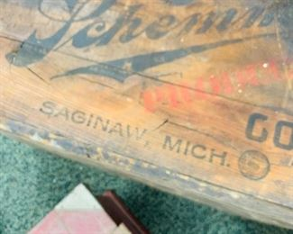 1880s Saginaw Brewing Co wooden crate