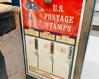 metal coin-op US Mail early stamp machine