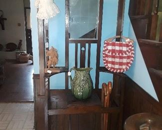 Hall tree antique