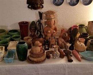 Mcoy, Hull, Red Wing and more. Mexican pottery