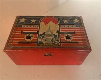 Vintage Metal Bank