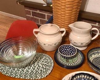 Longaberger and Polish Pottery
