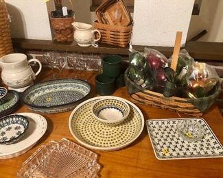 Polish Pottery and Longaberger