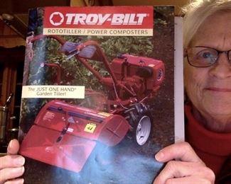 "Troy-Bilt ""Tuffy"" rototiller with Tecumseh engine."