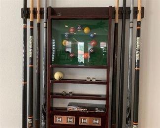 Harley Davidson pool sticks