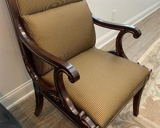 Mahogany and gold chairs