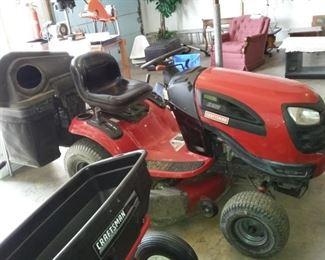 Craftsman Riding Lawn Tractor,  Spreader Attachment