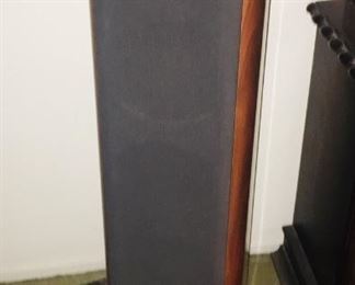 small and large floor speakers